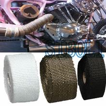 Darmowa wysyłka 5M 10M Hot Heat spalin Thermo Wrap Shield ochronne taśmy ognioodporne tkaniny izolacyjne Roll Kit dla samochodów motocyklowych tanie tanio Włókno szklane Virgin ISO9001 10 cm FT004 z mgod do 0 2 kg Uniwersalny motocykl spalin