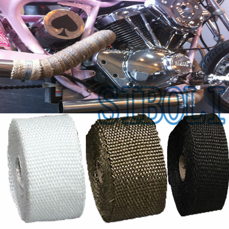 FREE SHIPPING 5M 10M Hot Heat Exhaust Thermo Wrap Shield Protective Tape Fireproof Insulating Cloth Roll Kit For Motorcycle Car