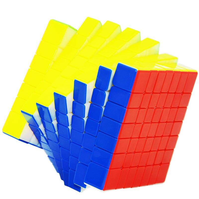 YX1067 Lefun Zhisheng Yuxin Huanglong 7 Couches Cube Stickerless/Noir 7x7x7 Cube Puzzle 7- couches Jouets Pour Enfants Enfants