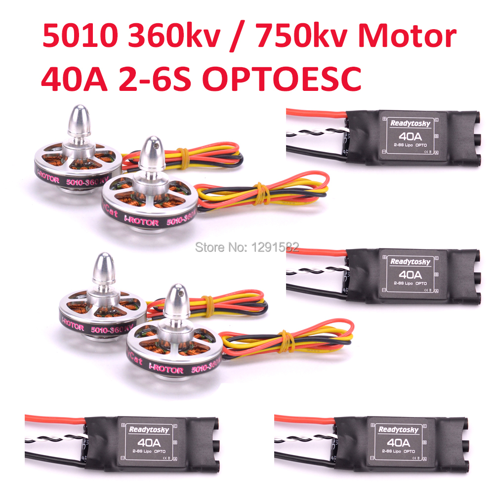 5010 360kv 750kv Brushless motor Readytosky 40A ESC OPTO 2 6S similar quality for Quadcopter