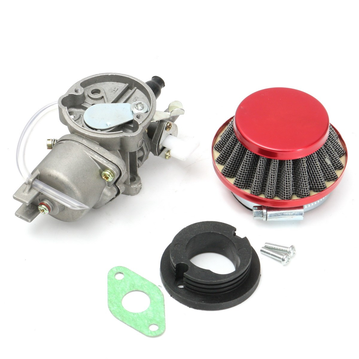 Carburetor Carb Air Filter Assembly For 43cc 47cc 49cc Mini Moto ATV Dirt for Pocket Bike Metal Red 2 stroke ignition coil for 33cc 43cc 47cc 49cc 50cc pocket dirt bike atv scooter
