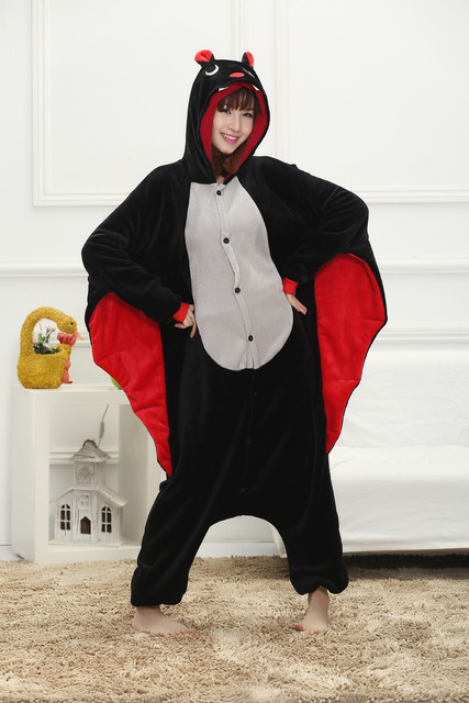 e84ca44d75 Kigurumi Flannel Anime Bat Pajamas Sleepwear Cosplay Costume Adult Animal  Onesie Pyjamas Party