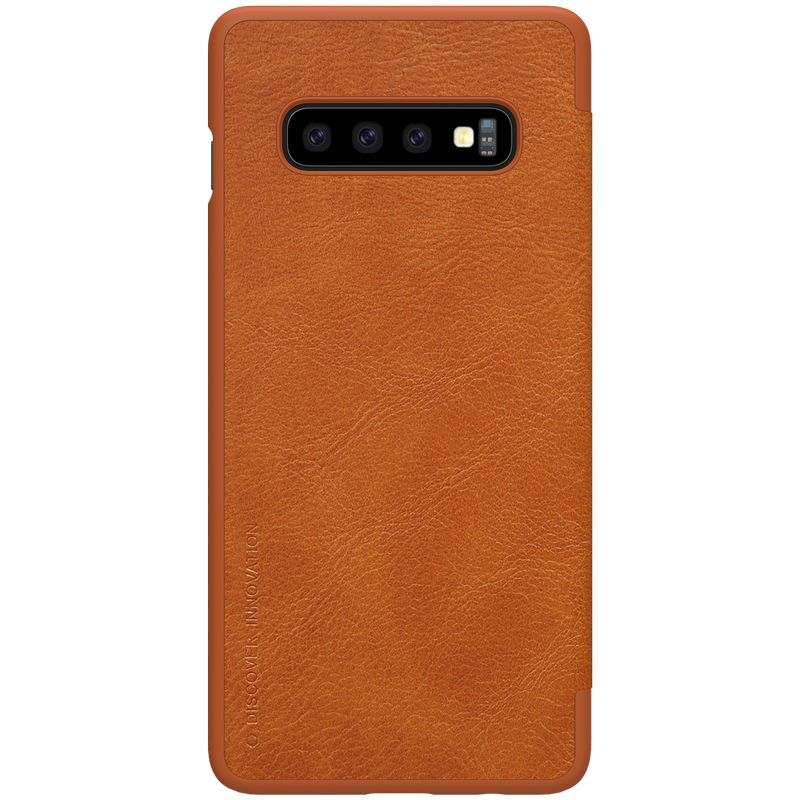 Case For Samsung Galaxy S10 & S10+ Plus Qin Series PU Leather Flip Cover Sfor Samsung S10 Case