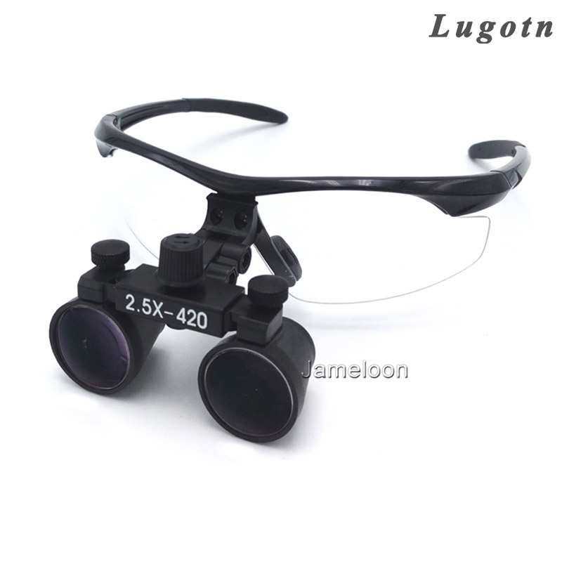 2.5X magnification surgical magnify surgeon doctor operation medical magnifier antifog optical glasses dentist dental loupe hot unisex hospital medical caps surgical caps operation caps scrub lab clinic dental for doctor nurse100