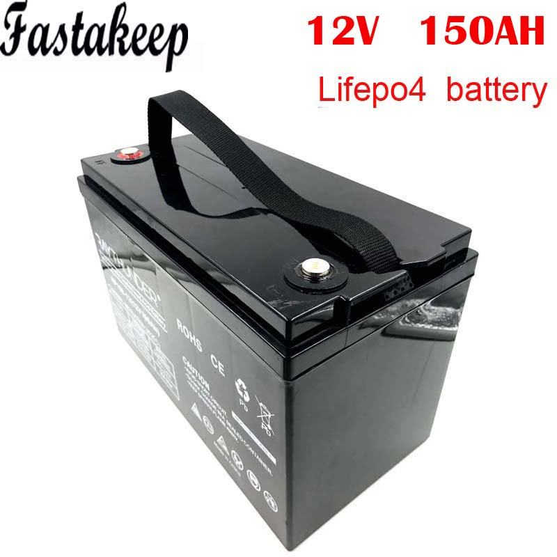 deep cycle 2000 times <font><b>12v</b></font> <font><b>150ah</b></font> <font><b>lifepo4</b></font> battery for solar electric car image