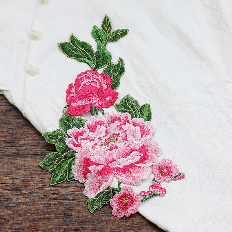 Iron on Peony patch Fashion flower patch
