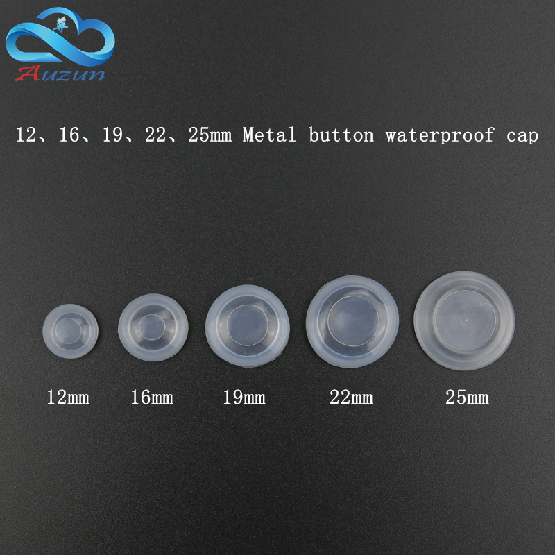 12/16/19/22mm Metal Button  Dustproof And Waterproof Cover Plate Rubber Seal Protective Cover  Waterproof Cap