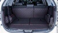 Dedicated Car Trunk Mats For KIA Sorento 7seats 2013 Durable Waterproof Leather Luggage Mats For Sorento