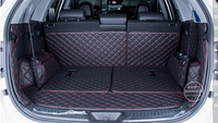 Dedicated car trunk mats for KIA Sorento 7seats 2013 durable waterproof leather luggage mats for Sorento 2014 full surrounded
