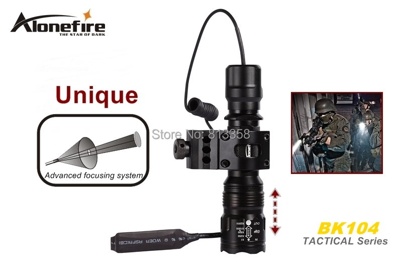 Free shipping AloneFire BK104 Tactical Series CREE XM-L T6 LED 5 mode Professional Zoom tactical flashlight torch lamp nitecore srt6 930 lumens cree xm l xm l2 t6 tactical led flashlight black free shipping