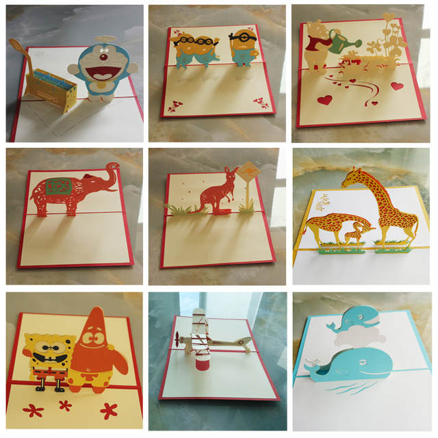 Handmade paper cut 3d stereoscopic animal greeting card folding type handmade paper cut 3d stereoscopic animal greeting card folding type unique creative chinese ethnic crafts cards m4hsunfo