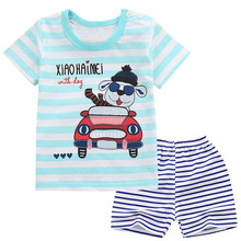 summer baby girl clothes body suit quality 100% cotton kids clothes cartoon baby boy clothes children's clothes sets tshirt 2019 baby clothes set best quality 100% cotton summer kids clothes striped baby boy and girl clothes children sets tshirt