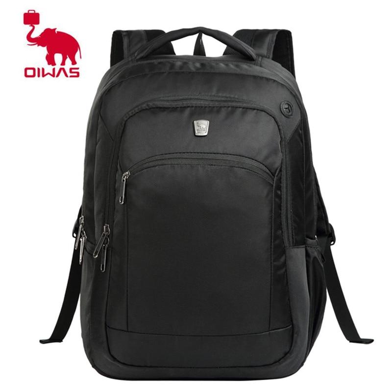 Oiwas 2017 Multifunctional Solid Color Men Women Laptop Backpack Business Style Travel Bag School Shoulder Bag Hot Sale Bags oiwas large capacity multifunctional men women backpack waterproof 15 inch notebook laptop shoulder bag