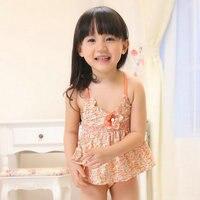 Cute Floral Swimwear 3 Piece Baby Girl Swimwear Set Brand Summer Swimwear Clothes For Kids Baby