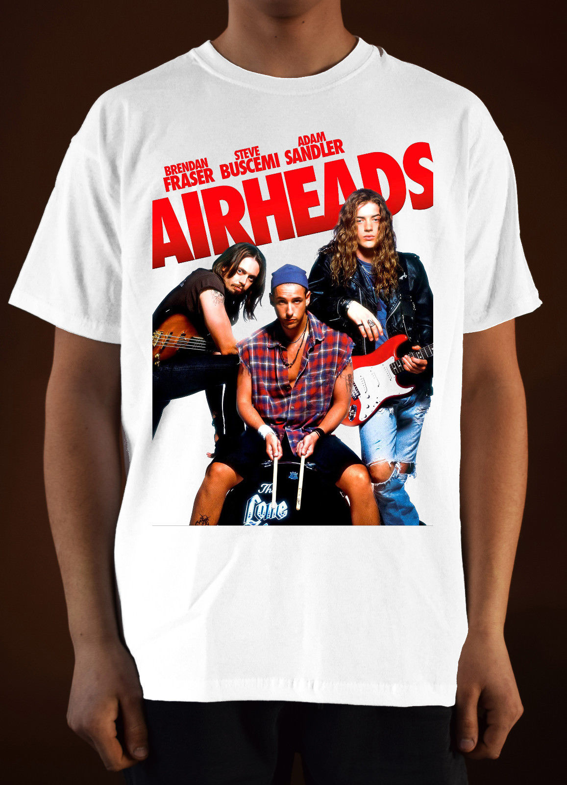 AIRHEADS Movie poster ver. 2 Adam Sandler T-Shirt (White) S-3XL Men Tee Shirt Tops Short Sleeve Cotton Fitness T-Shirts image