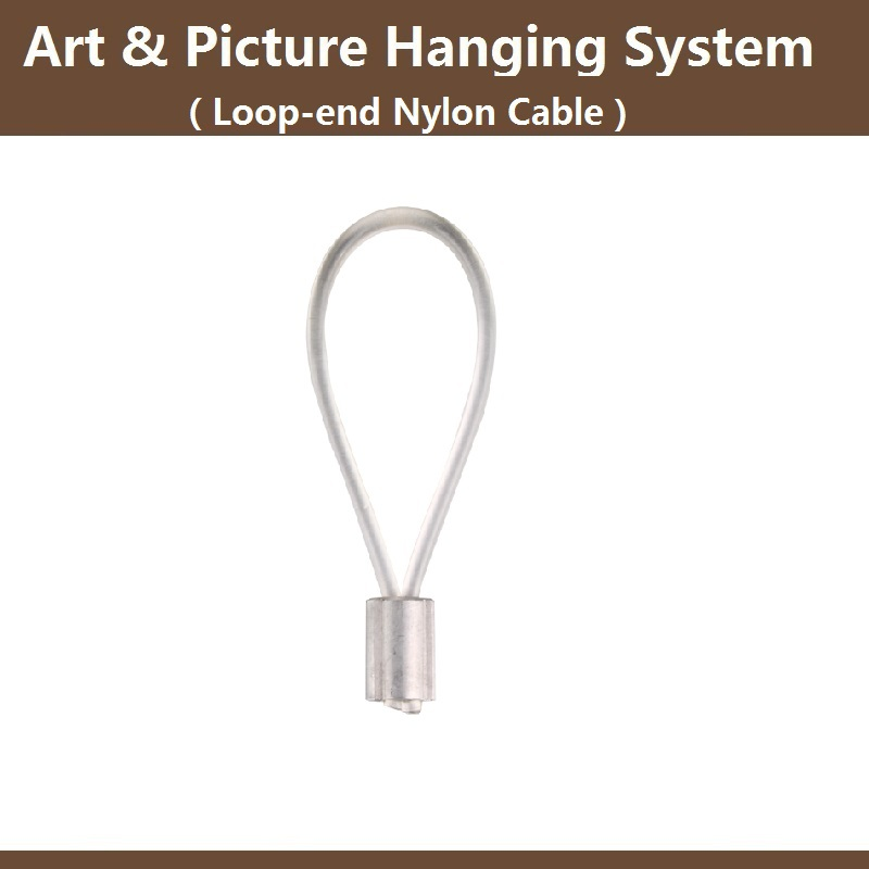 Free shipping,Loop end Transparent nylon cable 180cm,art hanging ...