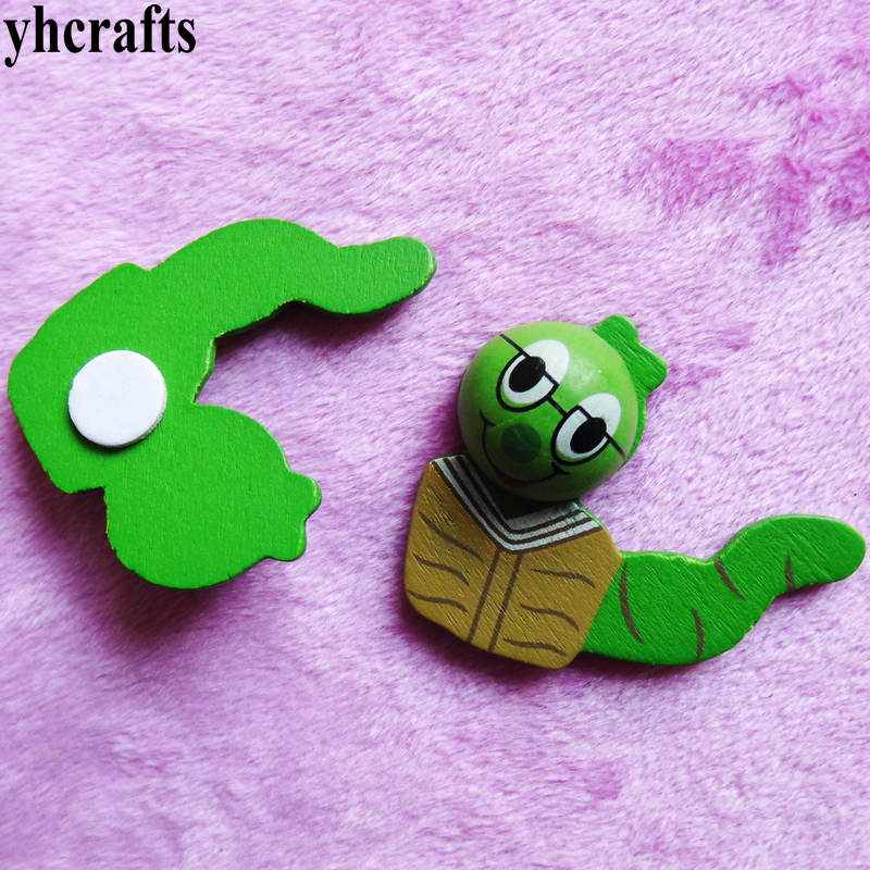 100pcs/lot.3d Elapoid Snake Wood Stickers Kids Toys Spring Easter Crafts Garden Decoraion Kids Wall Ornament Classic Toys Always Buy Good Classic Toys