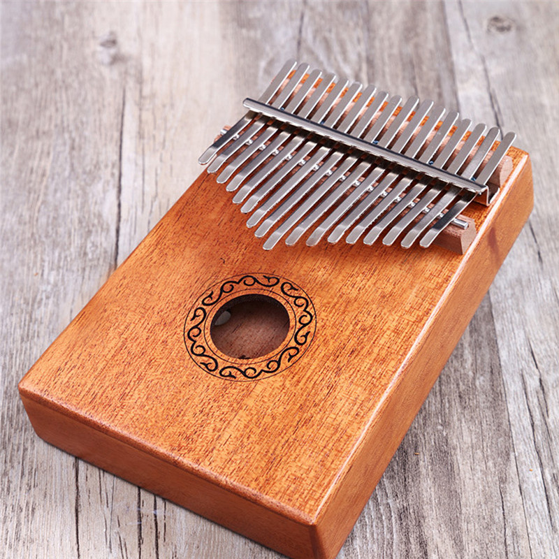 17 Key Finger Kalimba Mbira Sanza Thumb Piano Pocket Size Beginners Supporting Bag Keyboard Marimba Wood Musical Instrument