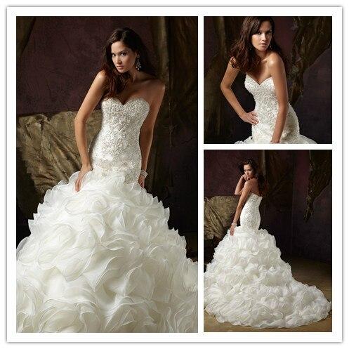 Aliexpress.com : Buy Luxury Sweetheart Beading Ruffle Winter ...