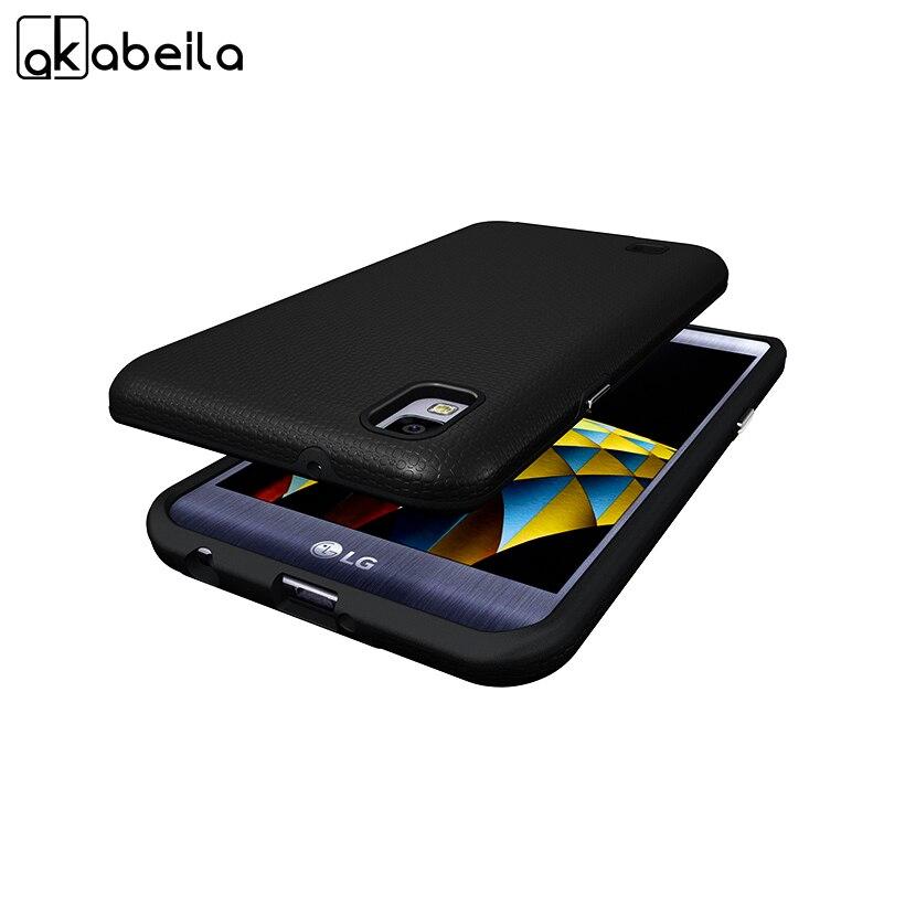 Galleria fotografica AKABEILA Custodie Coperture Per LG X Power K210 K450 K220 K220DS k220y k220 LS755 US610 F750K XPower 5.3 pollice Posteriore copertura della protezione Dello schermo