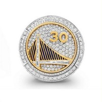Size 6 15 Wholesale 2015 Golden State Curry Round Basketball Custom Sports Replica World Championship Ring