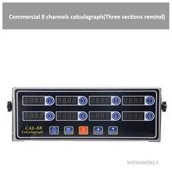 4-kanał/8-kanał/12-kanał calculagraph trzy sekcje przypomnieć czas maszyna komercyjna stal nierdzewna zegar 220 V/110 V 2W