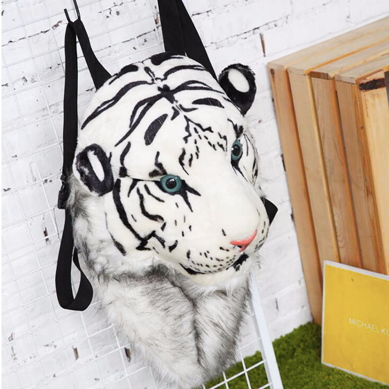 In 2018, The New Tiger Head Backpack Shoulder Bag For Male And Female Students, Panda Lion Head Creative Backpack Was  Sold