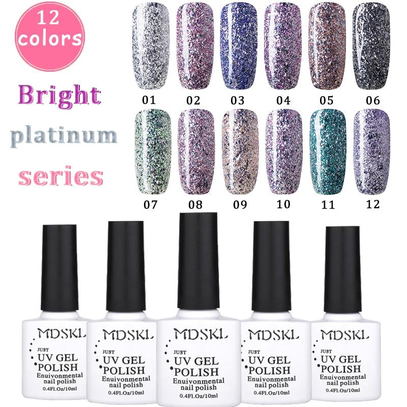 180 pcs UV Gel Polish 12 Color 10ML/Bottle Gel UV Nail Art Paint Nail Glue Soak Off UV LED Nail Polish Gel Lacquer Varnish