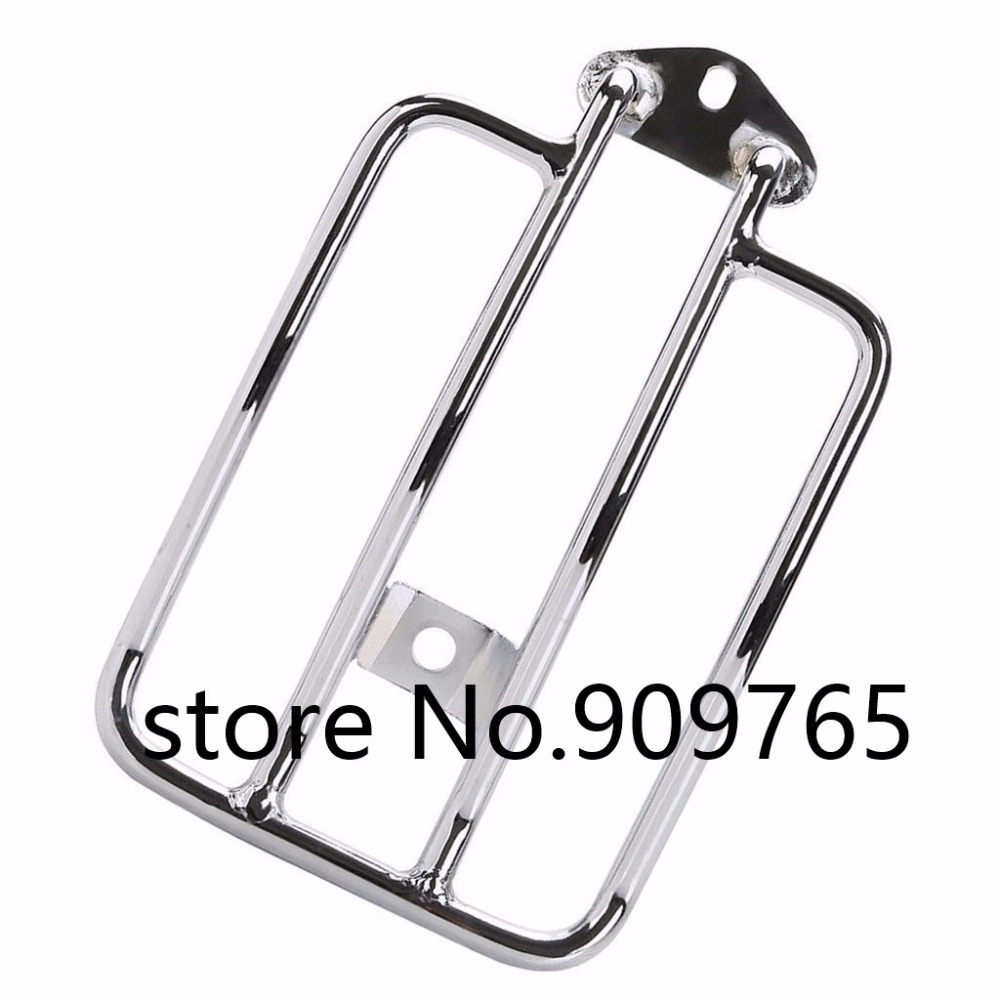 Motorcycle Chrome Solo Luggage Carrier Rear Fender Rack For 2004-Up Harley Sportster XL 883 Sportster 1200 motorcycle detachables solo luggage rack moto rear decoration mounting case for harley sportster xl1200 xl883 2004 2005 2017