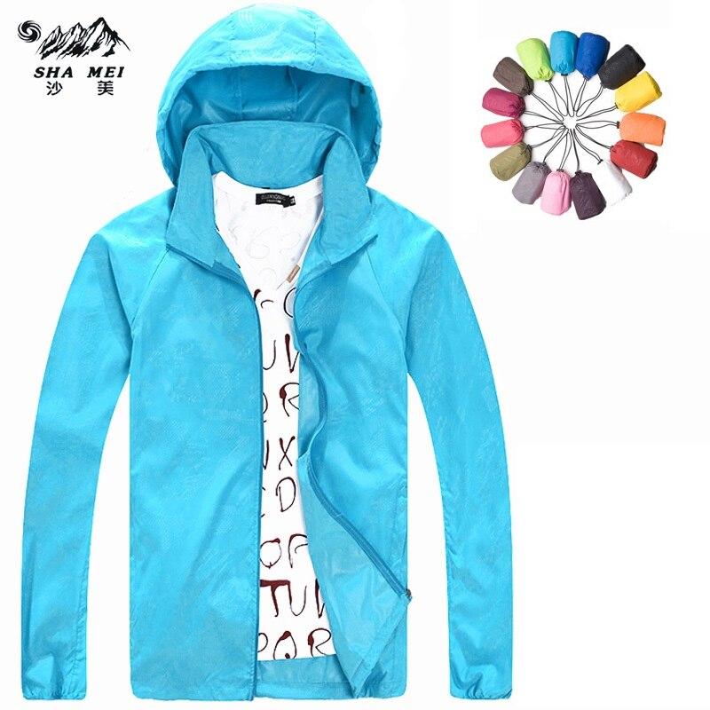 Новинка 2017 года Для мужчин Для женщин Кемпинг походы бренд Пальто для будущих мам Пеший Туризм Куртка быстросохнущая Водонепроницаемый УФ-Защитой Спортивные кожи Куртки