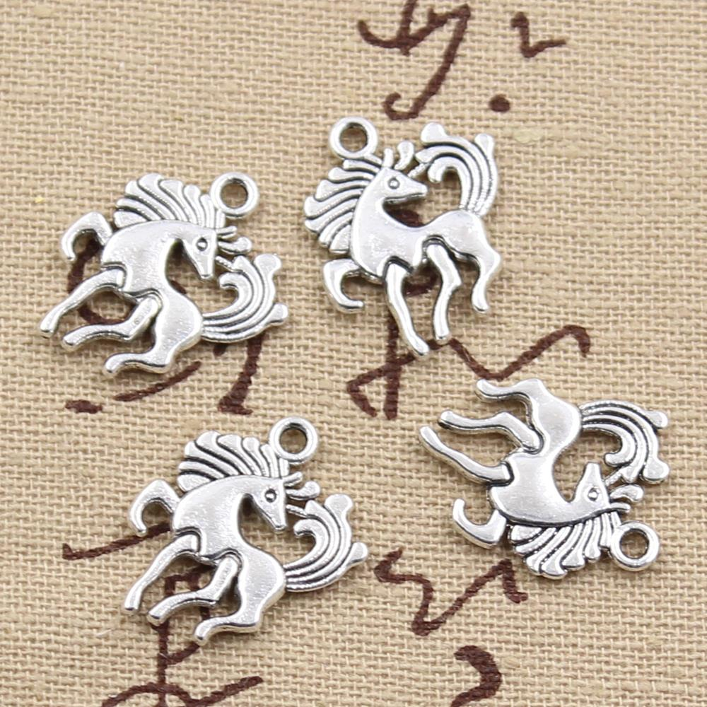 20 mm-métal argent antique 5 Duck Charms Canard Pendentifs