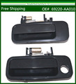 Black Exterior Outside New DOOR HANDLE for exterior doors Front Rear - LH For 1997-2001 Toyota Camry set of 2 69220-AA010