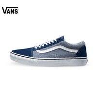 Оригинальные Vans Classic Vans синие Для Мужчин's Обувь для скейтбординга Old Skool спортивные Обувь Спортивная обувь