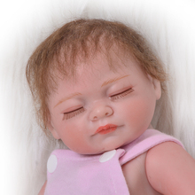 "11"" 27 cm Realistic Twins Reborn Doll Full Silicone Body Lifelike Sleeping Girl and Open Eyes Boy Peanut Baby Doll For Kid Gift"