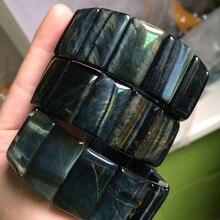 Bracelet en pierre doeil de tigre bleu, perles en pierre gemme naturelle, bijou fin, pour femmes, cadeau, vente en gros!