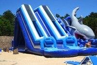 2017 commerciële opblaasbare glijbanen/PVC water glijbaan voor volwassenen en kinderen plastic kids slide
