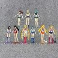 15 cm 9 Estilos Japón Anime Figura Sailor Moon Usagi Marte Mercurio VenusTsukino Mizuno PVC Figura de Acción de Juguete Para Niños Regalo de NAVIDAD