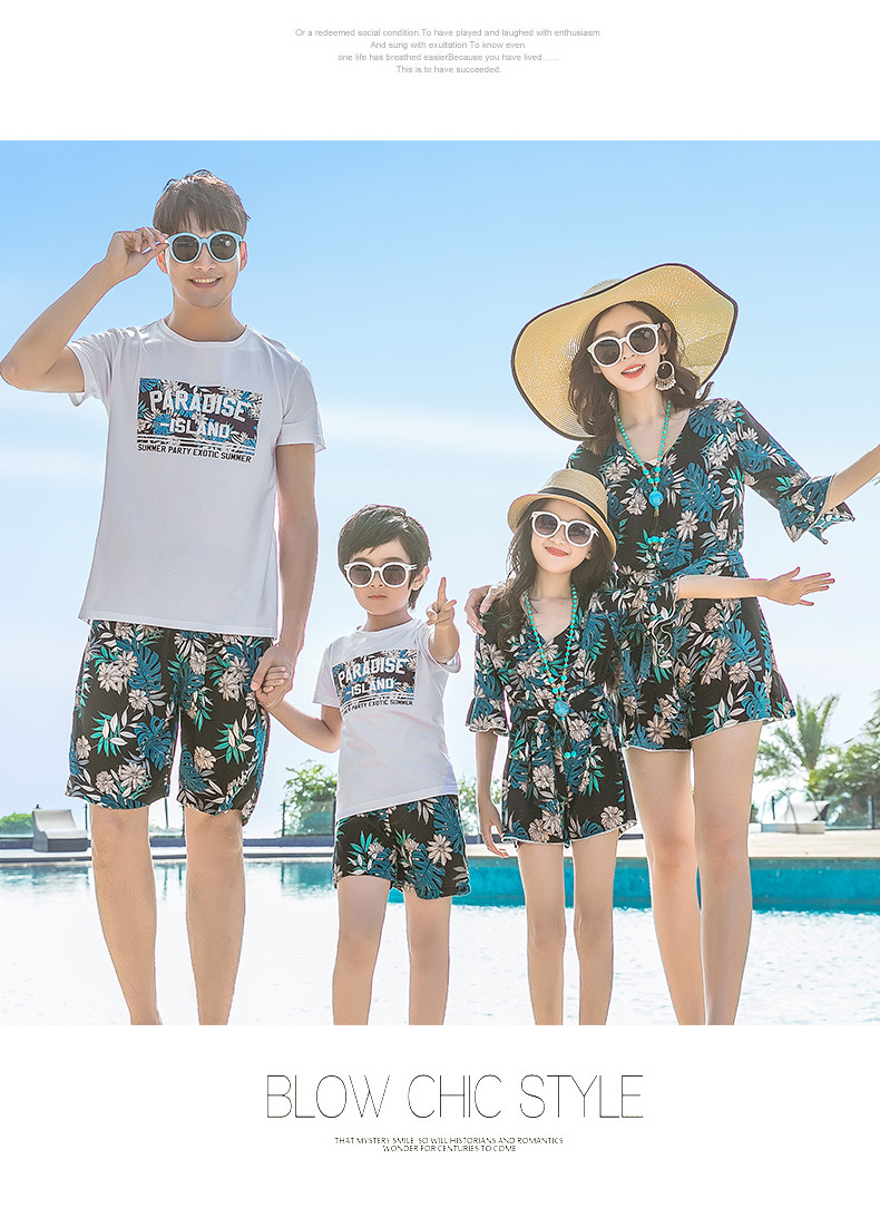 da1832fd6a3ff Summer Family Look Mother Daughter Matching Dresses Mommy And Me ...