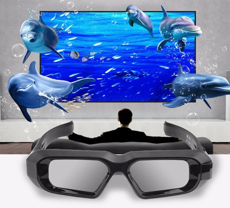b570968c46291 1 pc RF bluetooth óculos de Obturador Ativo 3D 480 HZ para EPSON ...