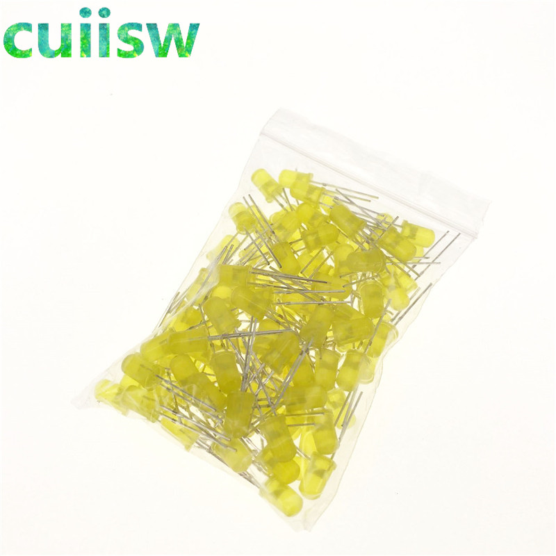 Diodes Electronic Components & Supplies 500pcs 5mm Led Diode Light Assorted Kit Diy Leds Set White Yellow Red Green Blue