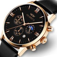 Men Quartz Watches OLMECA Luxury Brands Fashion Timed Movement Military