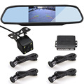 LCD 4.3 Inch Mirror Monitor + Visible Parking Sensor + Night Vision Rear View Camera = SW 836AVP LCD Display Parking Radar