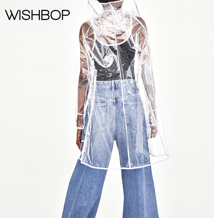 De Nuevo 2018 Capa style1 Wishbop Del Transparentes Con Pvc Las ~ Capucha Mujeres transparente Abrigo Impermeable Lluvia Style2 g6dR6nWq