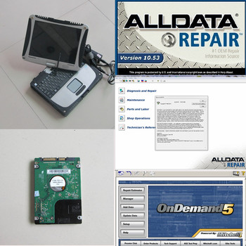 Alldata and mitchell software alldata 10.53(575gb)+Mitchell 2015 (161GB) in 1TB Hard Disk Installed in Toughbook CF-19 (2GB)