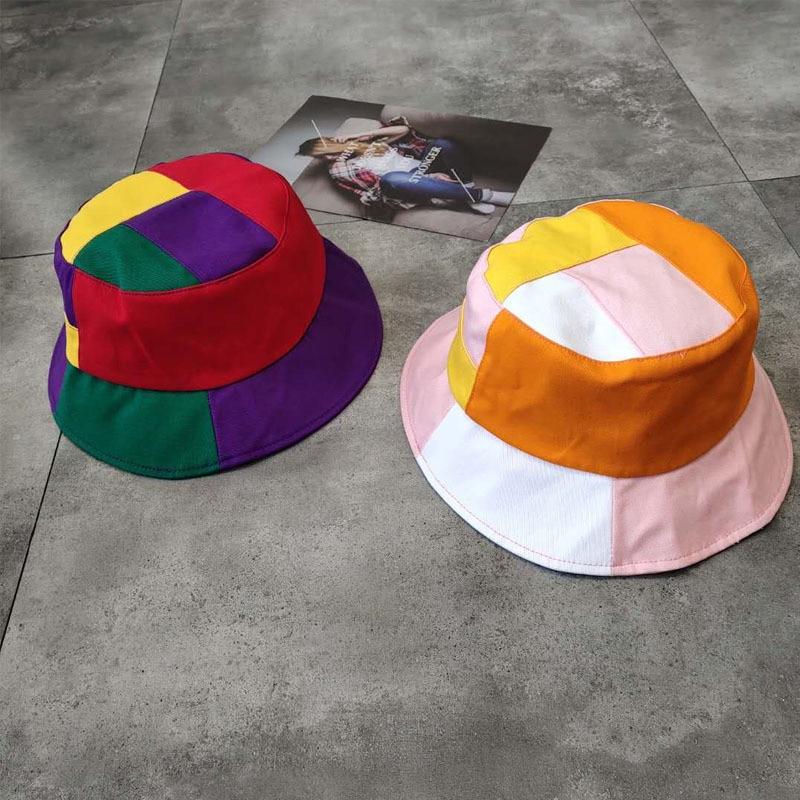 LDSLYJR 2019 Cotton Patchwork Bucket Hat Fisherman Hat Outdoor Travel Hat Sun Cap Hats For Women And Men 35