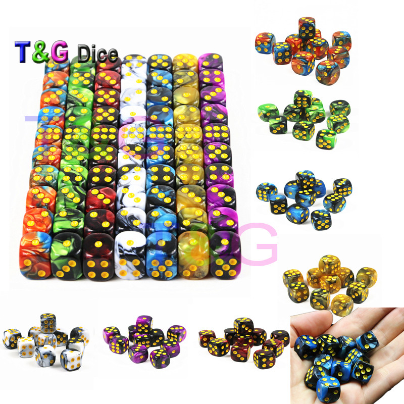 T&G Board Game Accessories 10pcs 12mm D6 Gemini Standard  Dice Cubes,for Gambling,Cube Playing,Tabletop Game,as Gift/Present