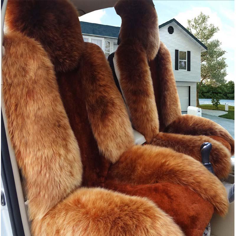 Автокресло пять простых зима овчины плюшевые подушки автомобиля Pad плюшевые шерсть подушка овечьего меха, кожи и плюшевые материал