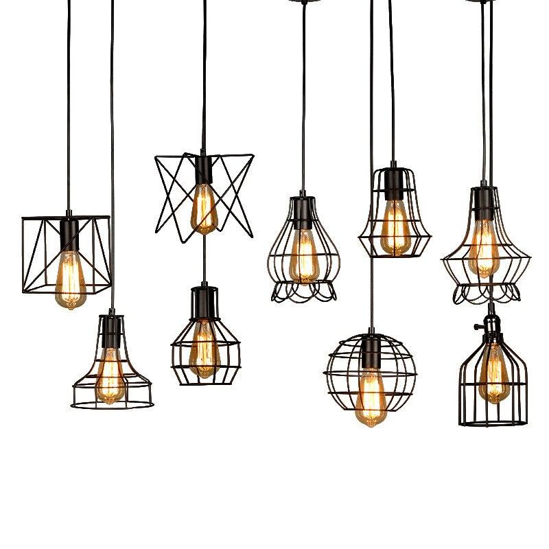 Juliyang Loft país de América restaurante colgante Luz retro industrial viento tienda de ropa bar creativo birdcage lámpara colgante