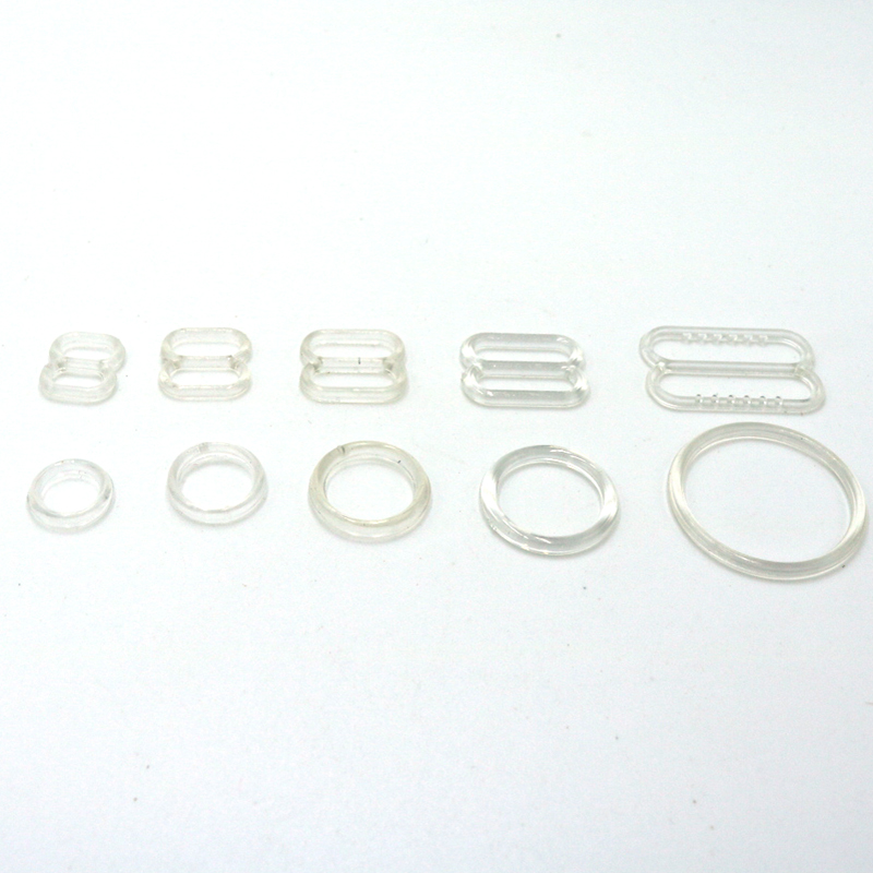 6mm 8mm 10mm 12mm 15mm 20mm Adjustable Buttons 100 Sets (O Ring And Slider) Clear Nylon Buttons Women Bra Set