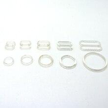 6 мм 8 мм 10 мм 12 мм 15 мм 20 мм регулируемые кнопки 100 наборов(уплотнительное кольцо и слайдер) прозрачные нейлоновые Кнопки Женский комплект бюстгальтера